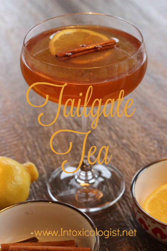 Tailgate Tea: One of 8 seasonal cocktail recipes to add inner warmth to your fall happy hour.