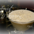 Coconut Macaroon Cocktail: recipe yields a lightly sweetened, creamy smooth and frothy drink.