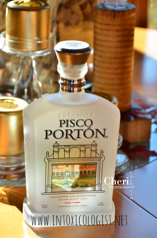 Pisco Portón is a clear, Peruvian spirit made from grapes. Pisco is also the national spirit of Peru. Pisco Portón displays beautifully in a tasting glass. The aroma contains hints of spice such as nutmeg. Notes of sweetness, floral, grass and juicy peach play over the nose.