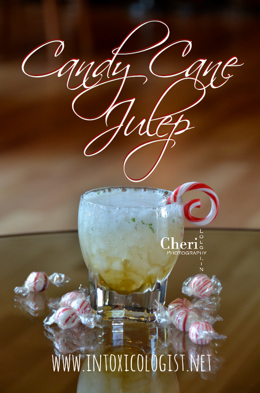 Candy Cane Julep uses the classic Mint Julep as handy guide to creating a bubbly variation with brandy and mint for the holiday season.