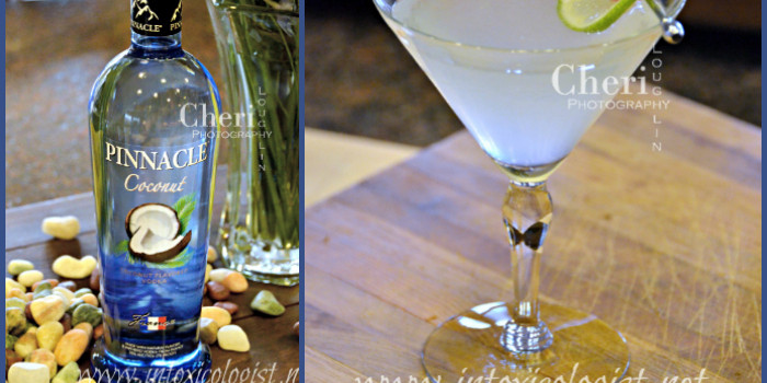 Pinnacle Coconut Vodka with Coconut Lime Gimlet