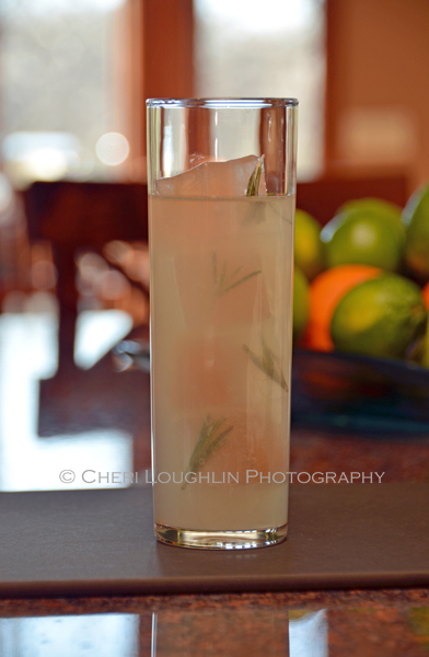 Camarena Rosemary Lemonade with Rosemary Infused Ice