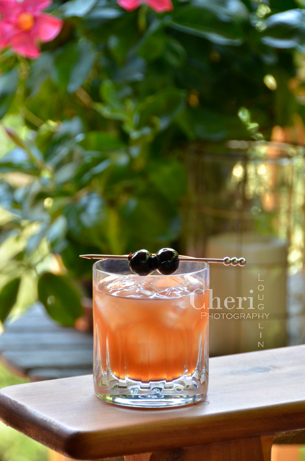Cherry Vanilla Sour inspired by the Whiskey Sour. Recipe includes George Dickel Tennessee Whisky, Vanilla and Cherry liqueurs, Lemon and Bitters.