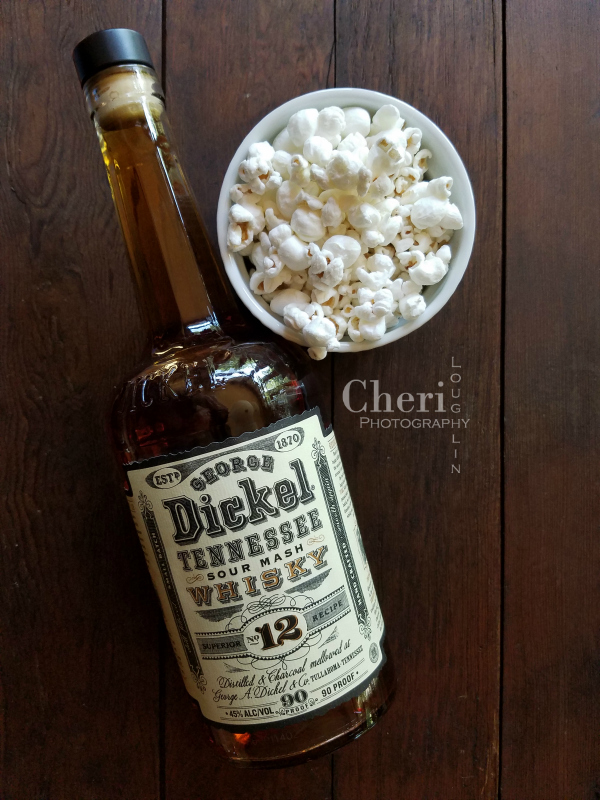 George Dickel Tennessee Whisky pairs well with white cheddar cheeses. Make it a sneaky cheesy snack with white cheddar popcorn.