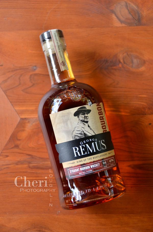 "George Remus Bourbon is a high-rye blend whiskey, aged for a minimum of four years in American White Oak barrels. The name is inspired by George Remus, dubbed the ""King of the Bootleggers."""