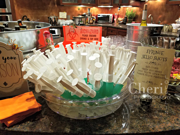 Gelatin syringe shots were a hit with four different craft cocktail flavors to choose from.