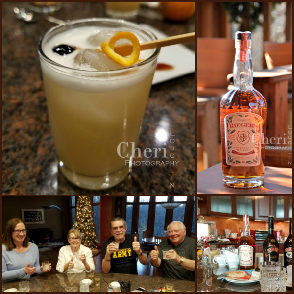 The J. Rieger Whiskey Genessee St. Sour with amaretto and orange bitters is light and refreshing with just the right touch of sweetness.