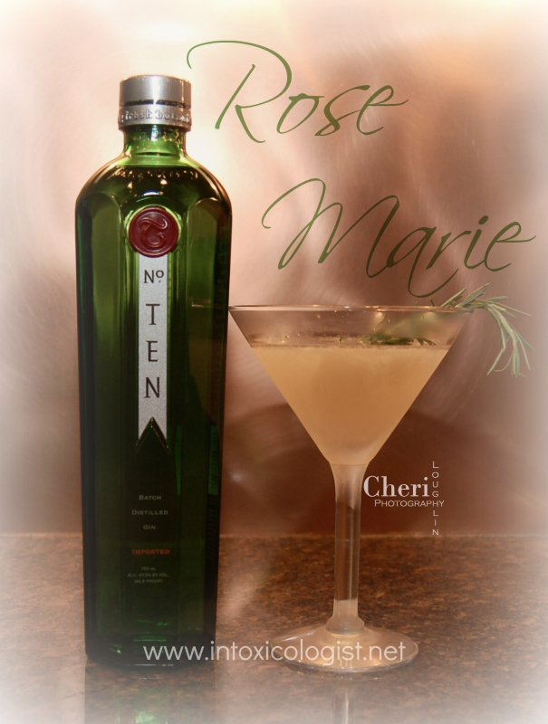 Rose Marie: This drink uses freshly made rosemary syrup concocted by the chef expressly for one specialty cocktail.