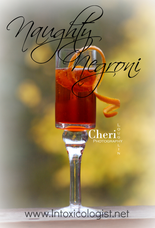 Naughty Negroni: Campari, Sweet Vermouth, Gin, Sparkling Moscato Wine -  www.Intoxicologist.net
