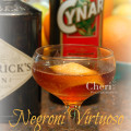 Negroni Virtuoso: Gin, Sweet Vermouth, Artichoke Liqueur, Sparkling Moscato Wine - www.Intoxicologist.net