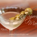 801 Special Martini: Vodka, Gin, and Olives stuffed with a mixture of Gorgonzola, Anchovy, Garlic and Tabasco Sauce.