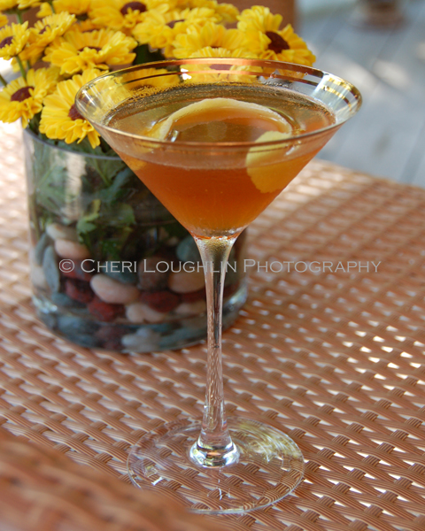 The Hennessy Martini recipe mere steps away from a variation on the classic French 75 and classic Sidecar. - photo by Cheri Loughlin, The Intoxicologist