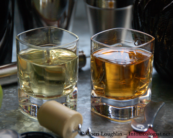 GIVEN Lime Infused Tequila Liqueur and Agavero Tequila Liqueur Comparison - photo property of Cheri Loughlin - The Intoxicologist
