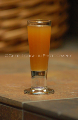 Burnt Orange Texan Shot - recipe and photo by Mixologist Cheri Loughlin, The Intoxicologist