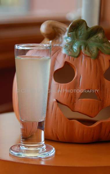 Halloween Horror Movie Shot - Chuckie {photo credit: Mixologist Cheri Loughlin, The Intoxicologist}