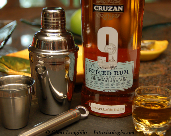 Cruzan 9 Spiced Rum Tasted Neat for Review - photo property of Cheri Loughlin - The Intoxicologist