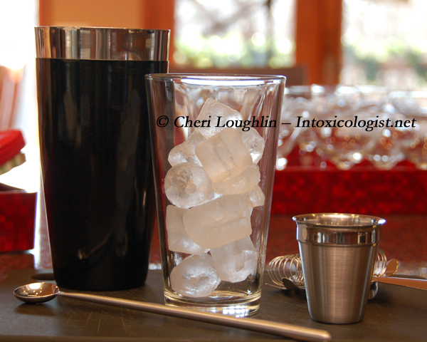 Mixing Glass with Ice photo copyright Cheri Loughlin