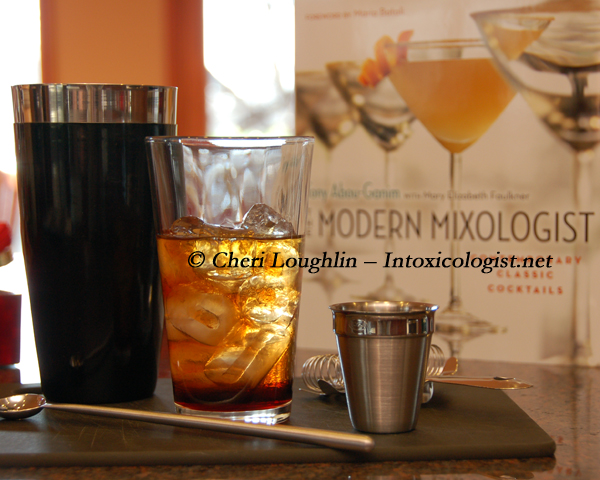 Modern Mixologist Book with Just For Mary in Mixing Glass photo copyright Cheri Loughlin