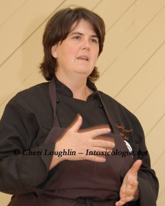 Chef Ouita Michel of Woodford Reserve Bourbon photo copyright Cheri Loughlin