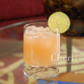 Ruby Mocktail - Lime Juice, Ruby Red Grapefruit Juice, Izze Sparkling Grapefruit, Agave Nectar