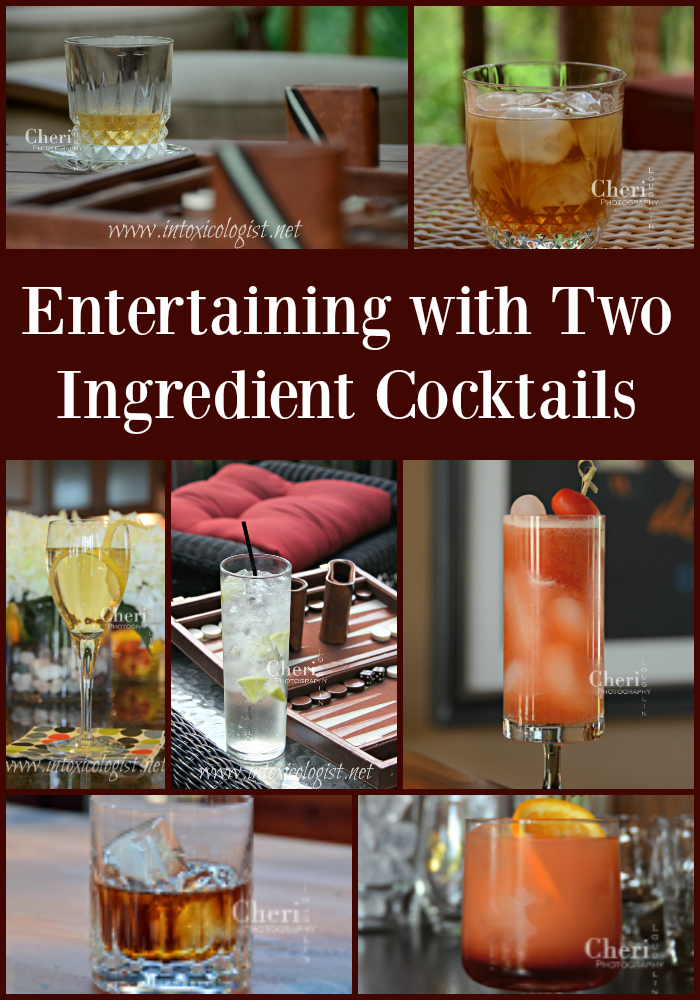 Two ingredient cocktails keep entertaining fun, fabulous and flavorful. Choose from highballs to spritzers and everything in between. Your drinks are sure to hit the bull's eye.