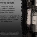 Prince Edward Scotch Cocktail Recipe Card for personal use only - recipe card designed by Mixologist Cheri Loughlin, The Intoxicologist