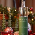 Effen Cucumber Vodka 3 bottle shot in holiday setting - photo by Mixologist Cheri Loughlin, The Intoxicologist