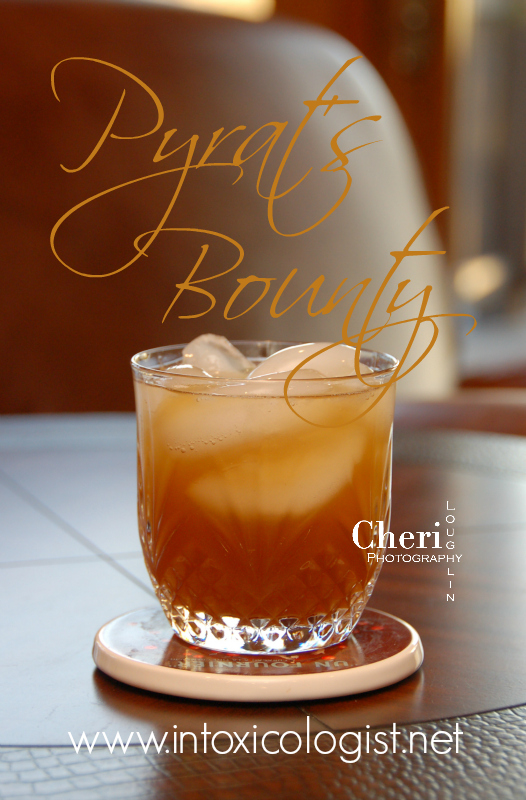 Pyrat's Bounty combines delicious rum with the complex flavors of Kahula Especial and Drambuie with Mango juice and splash of champagne. Decadent and delicious.