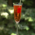 Kiss from a Rosé - Barefoot Bubbly cocktail, terrific for Valentine's Day. {photo credit: Cheri Loughlin}