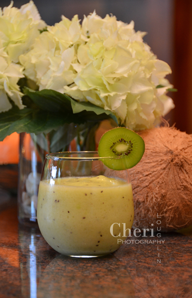The Kiwi Colada frozen mocktail is ideal for warm weather sipping or blend this in place of your morning smoothie.