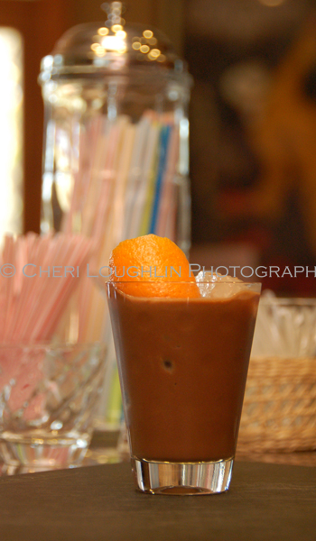 Tootsie Roll Wrapper Mocktail {recipe and photo credit: Mixologist Cheri Loughlin, The Intoxicologist}