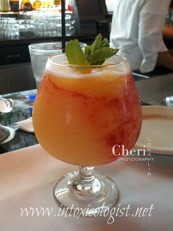 This Georgia Peach frozen drink was inspired by Cheesecake Factory's drink with the same name. Try it and compare or simply make one on the rocks.