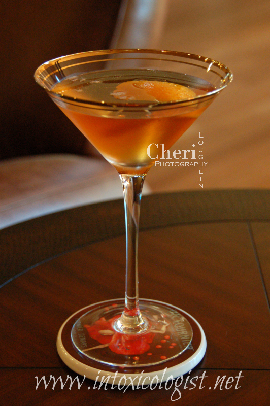 The International Cocktail tastes similar to a Manhattan. Exchanging Drysack Sherry for sweet vermouth makes this drink a little softer on the palate.