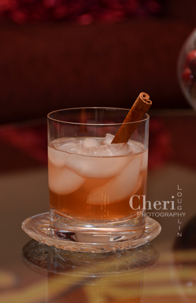 Mexican Holiday - Tequila, Cranberry Juice, Lemon, Spiced Orange Syrup, Cinnamon Stick