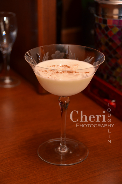 Camarena Frost is a dessert style cocktail containing excellent tequila and spice aroma with sweet, nutty chocolate flavor. {recipe and photo by Mixologist Cheri Loughlin, The Intoxicologist www.intoxicologist.net}