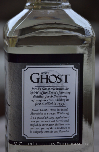 "Jacob's Ghost White Whiskey doesn't say ""moonshine"" on the label. It's White Whiskey, not moonshine. - photo by Cheri Loughlin, The Intoxicologist"