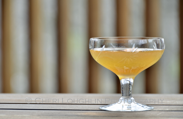 The Early Summer Cocktail contains Gin, Apricot Brandy, Calvados and Orange Juice. Wonderful for a summer evening cocktail party on the patio. - photo by Cheri Loughlin, The Intoxicologist