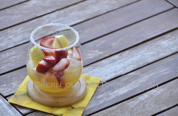 The Graduate uses fresh juices and sliced fruits for satisfying refreshment - – recipe and photo by Mixologist Cheri Loughlin, The Intoxicologist