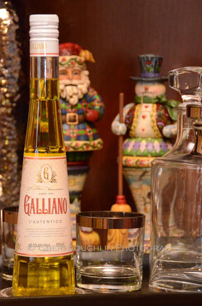 Galliano liqueur is a blend of Mediterranean herbs and plants. The recipe includes Mediterranean anise, juniper, musk yarrow, star anise, lavender, peppermint, cinnamon and vanilla. The color is golden yellow, reminding me of King Midas of Greek mythology and his golden touch. Perhaps the flavor is deeply flavorful, rich, rolling over the tongue, warming and smooth. - photo by Mixologist Cheri Loughlin, The Intoxicologist