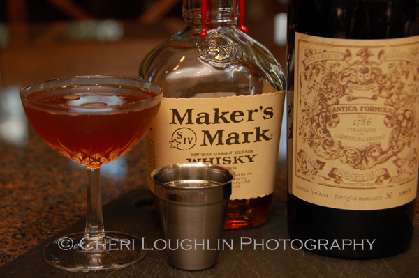 Maker's Mark Manhattan with Carpano Antica Formula is just one variation of a classic Manhattan - photo by Mixologist Cheri Loughlin, The Intoxicologist