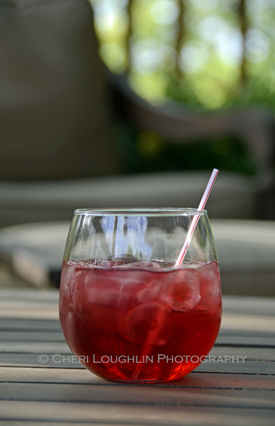 Royal Raelene Low Calorie Drink 4th of July Red White Blue Cocktails with Charbay Ruby Red Raspberry Vodka, Light Cranberry Juice, Pomegranate Juice and Club Soda. Approximately 92.5 calories - recipe and photo by Mixologist Cheri Loughlin, The Intoxicologist
