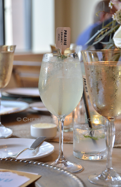 Prairie Organic Spirits Prairie Made Dinner - Rubicon: Prairie Organic Gin, Green Chartreuse, Luxardo Maraschino Liqueur, Lemon Juice, Club Soda, Fresh Rosemary Garnish - photo by Cheri Loughlin, The Intoxicologist