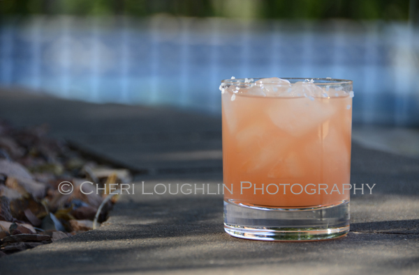 South Pacific recipe uses silver rum, ruby red grapefruit juice, passion fruit juice and peach bitters. - recipe & photo by Mixologist Cheri Loughlin, The Intoxicologist