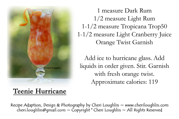 Hurricane Drink Recipe Card for personal use only. Click on card. Right click to save to personal computer file. Print for personal use only