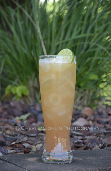 """Chilled Ginger Beer and your favorite chilled beer or lager are used in equal parts to created a """"Shandy"""". The Shandy makes an excellent tailgate drink; refreshing and goes the distance. ~ photo by Mixologist Cheri Loughlin, The Intoxicologist"""