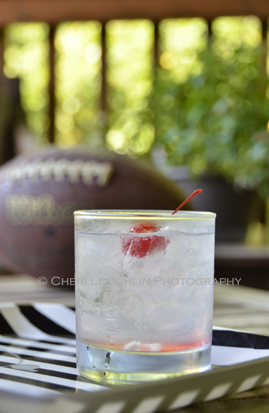 Cherry Kicker is an easy build drink created specifically for football and tailgating season using Cherry Vodka, Vanilla Vodka and Coconut Juice with optional cherry garnish. It is one of four basic, quick build cherry vodka drinks in a series. - recipe and photo by Mixologist Cheri Loughlin, The Intoxicologist