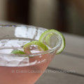 Barefoot Cosmo 349 recipe loosely based on the popular Cosmopolitan Contemporary Cocktail - recipe adaption and photo by Mixologist Cheri Loughlin, The Intoxicologist {https://intoxicologist.net}