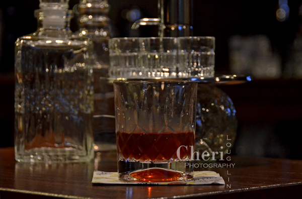 Red Witching Hour must be mixed and chilled, but served in a rocks glass without ice. It would be a shame to let this flavorful fall cocktail get watered down with too much ice. {recipe and photo credit: Mixologist Cheri Loughlin, The Intoxicologist. www.intoxicologist.net}