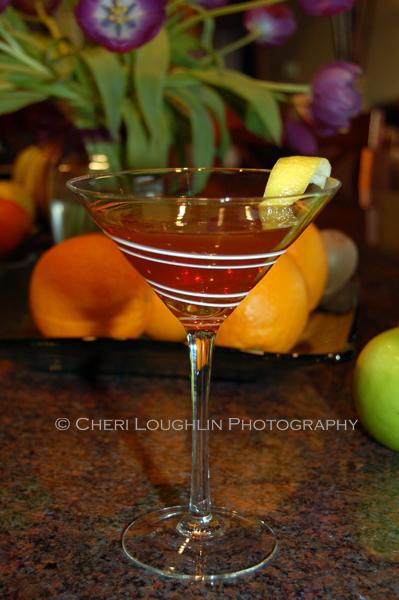 Ruby Twist 032 This little gem of a cocktail uses reposado tequila, pomegranate liqueur and premium orange liqueur. Ruby Twist weighs in at about 48.63 proof. - recipe and photo credit: Mixologist Cheri Loughlin of The Intoxicologist {https://intoxicologist.net}