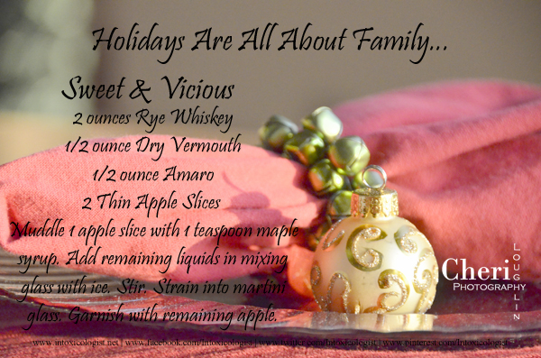 Holiday Recipe Card - Sweet and Vicious Cocktail